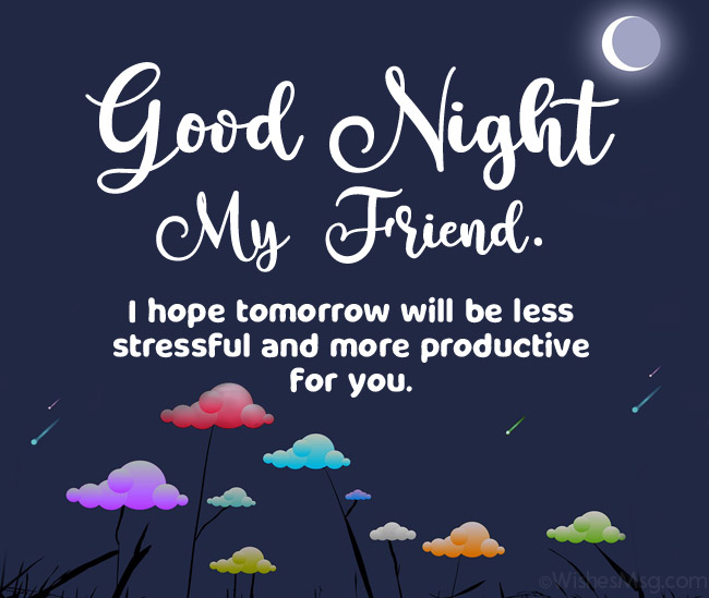 Good Night Wishes For Friends